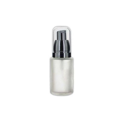 Pumpás flakon matt üveg ezüsttel 30 ml