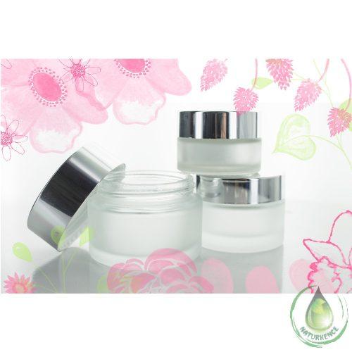 Dekoratív kozmetikai üvegtégely 50 ml