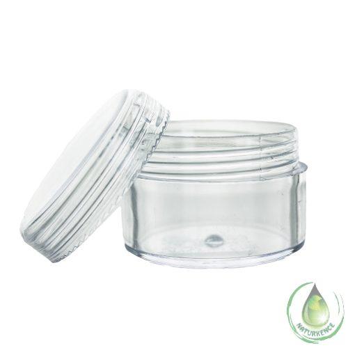 Kozmetikai tégely átlátszó 15 ml