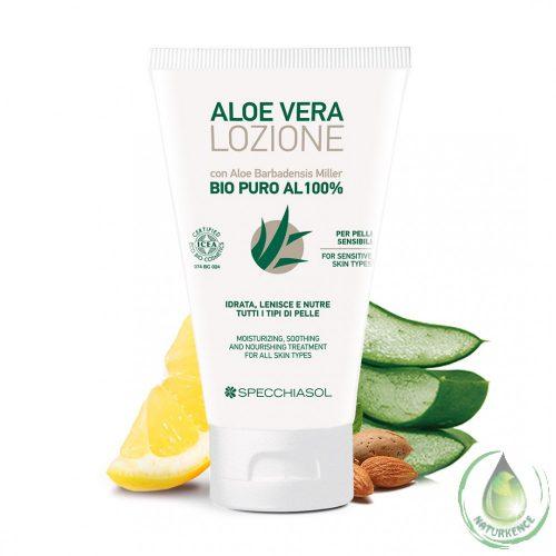 100%-os feszesítő - tápláló Aloe vera testápoló gél (BIO)