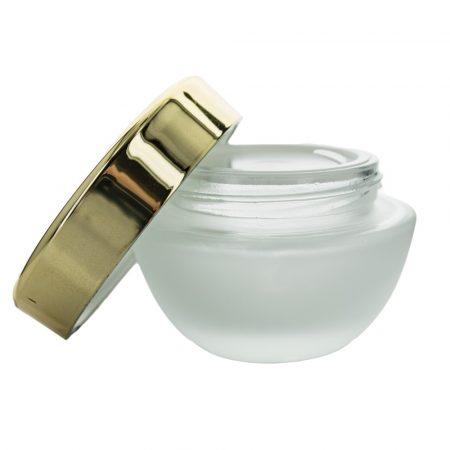 Dekoratív kozmetikai tégely matt +arany fedél 50 ml