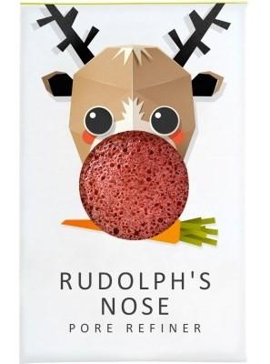 Konjac arctisztító - pórusfinomító mini szivacs Rudolf vörös agyaggal