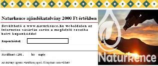 AJÁNDÉKUTALVÁNY 2000 Ft értékben