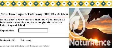 AJÁNDÉKUTALVÁNY 5000 Ft értékben