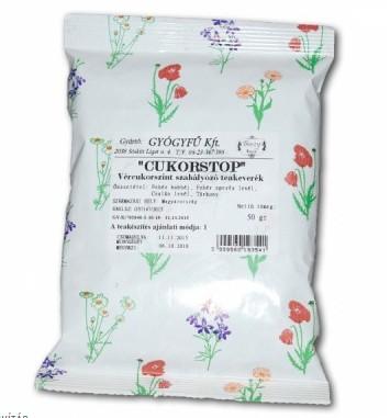 Cukorstop teakeverék