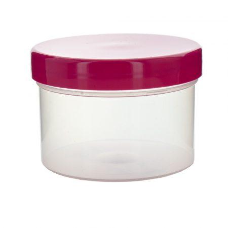 Kozmetikai tégely rózsaszín fedéllel 100ml