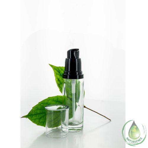 Pumpás flakon átlátszó üveg 30 ml